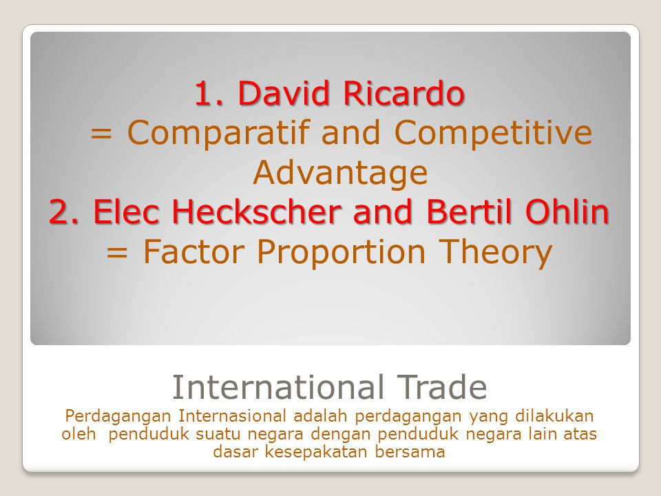 = Comparatif and Competitive Advantage