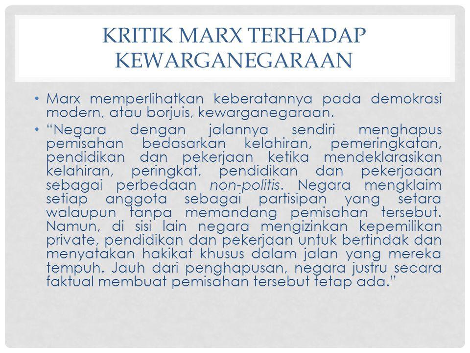 Kritik Marx terhadap Kewarganegaraan
