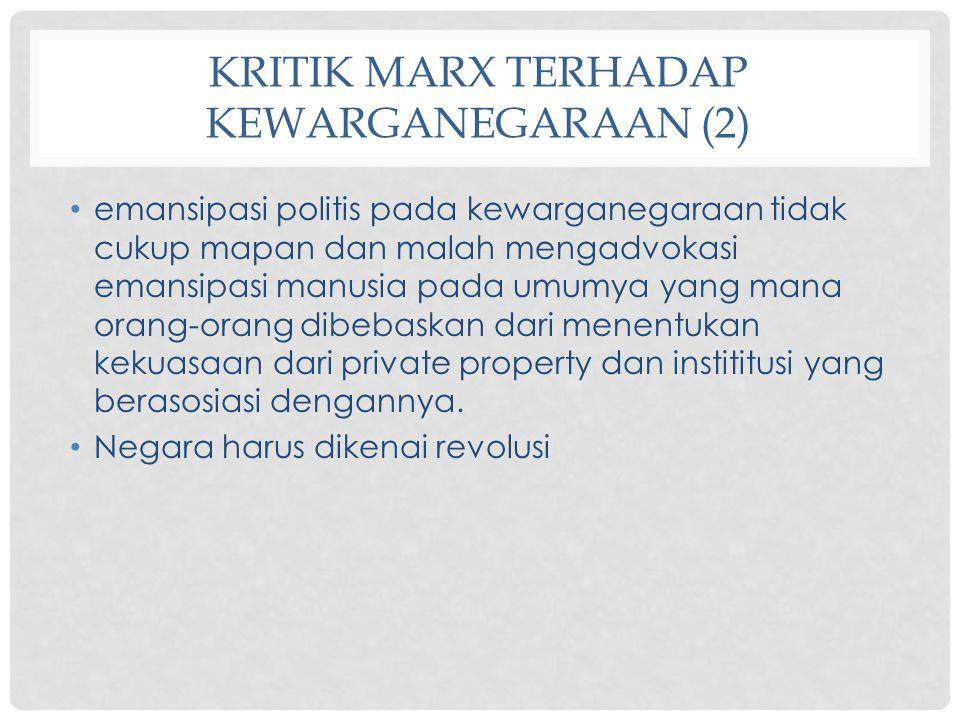 Kritik Marx terhadap Kewarganegaraan (2)