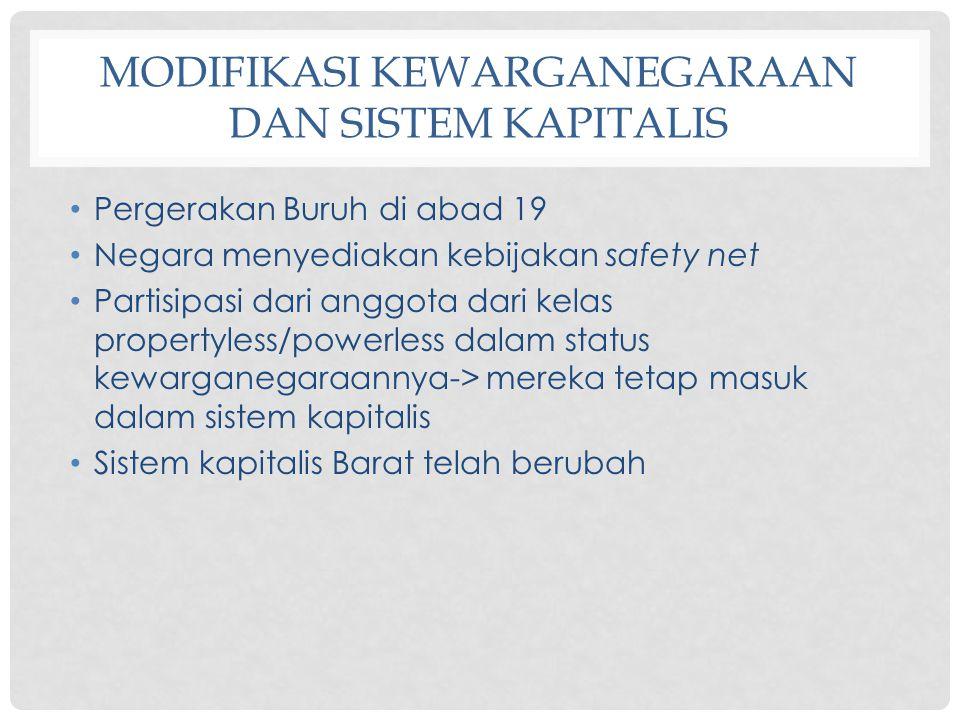 Modifikasi Kewarganegaraan dan Sistem Kapitalis