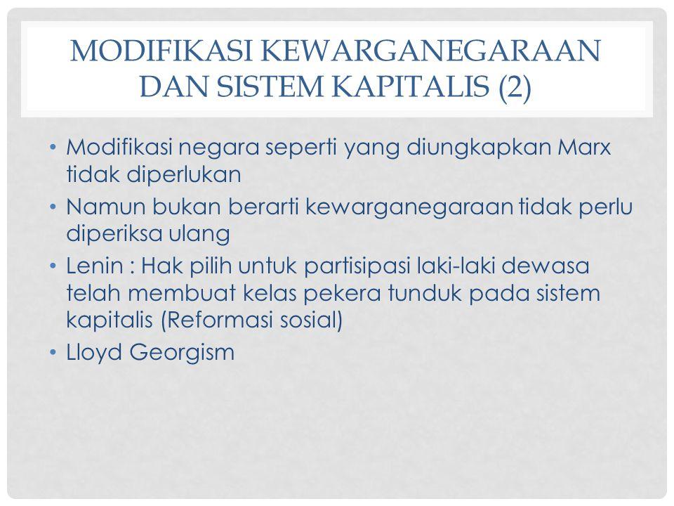 Modifikasi Kewarganegaraan dan Sistem Kapitalis (2)