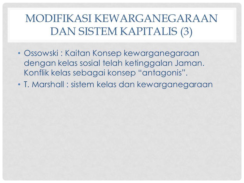 Modifikasi Kewarganegaraan dan Sistem Kapitalis (3)