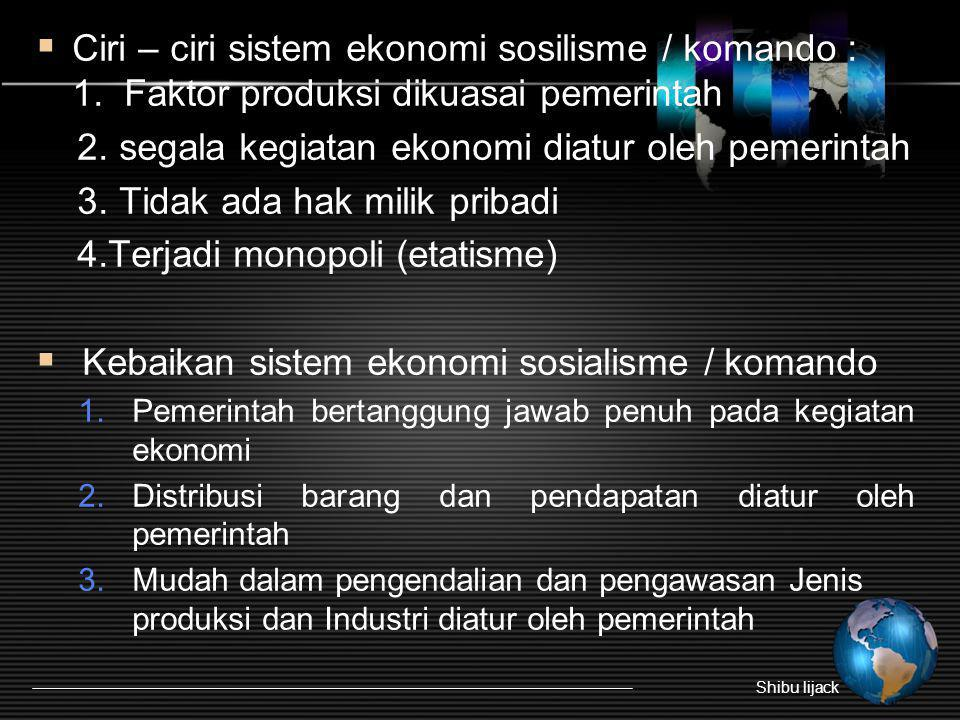 2. segala kegiatan ekonomi diatur oleh pemerintah