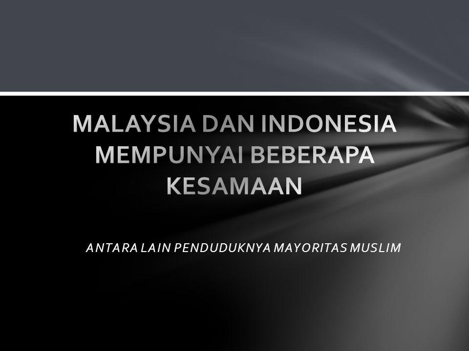 MALAYSIA DAN INDONESIA MEMPUNYAI BEBERAPA KESAMAAN