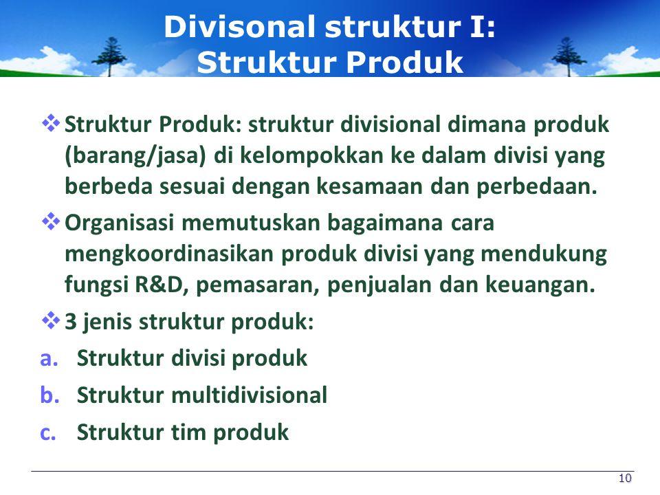 Divisonal struktur I: Struktur Produk