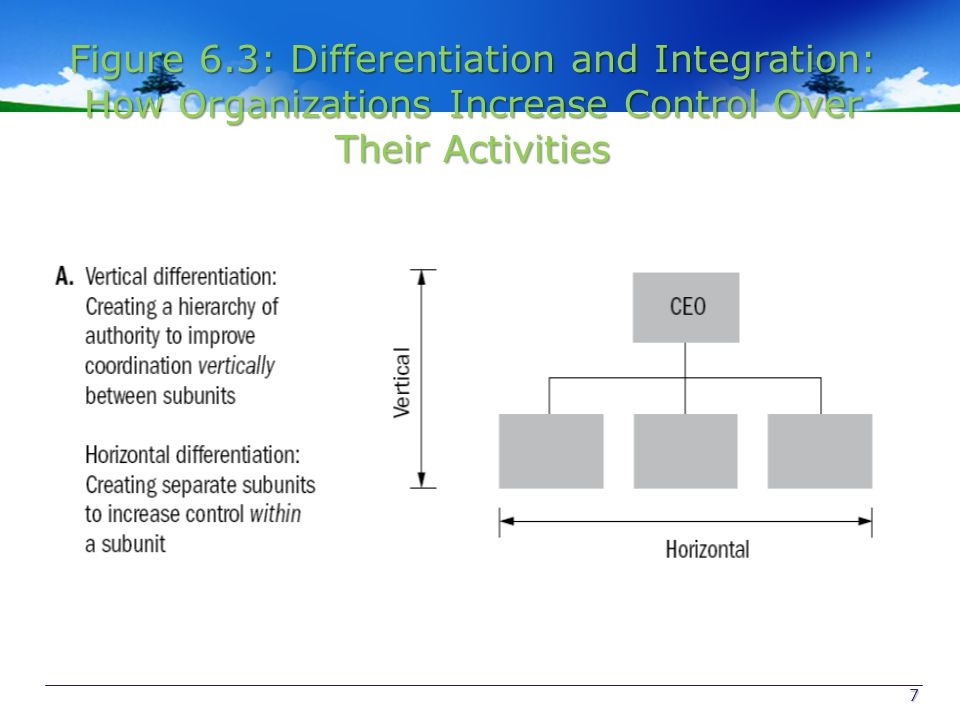 Figure 6.3: Differentiation and Integration: How Organizations Increase Control Over Their Activities