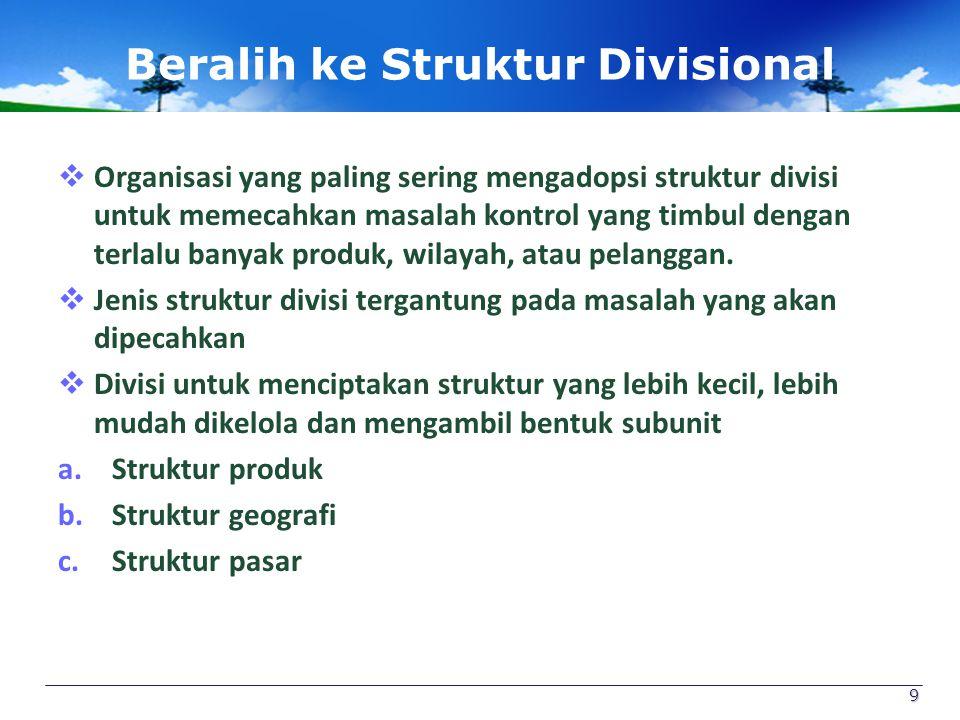 Beralih ke Struktur Divisional