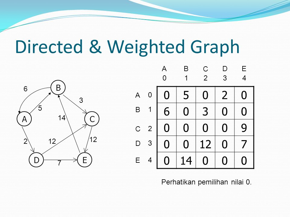 Directed & Weighted Graph