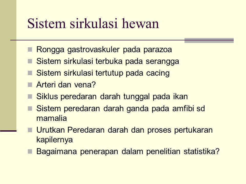 Sistem sirkulasi hewan