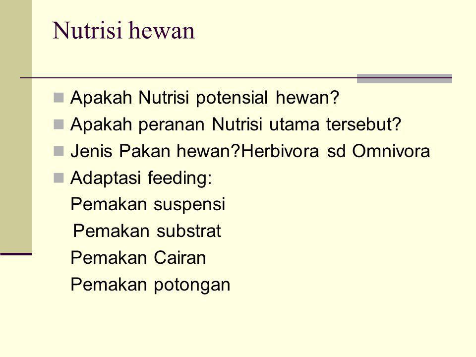 Nutrisi hewan Apakah Nutrisi potensial hewan