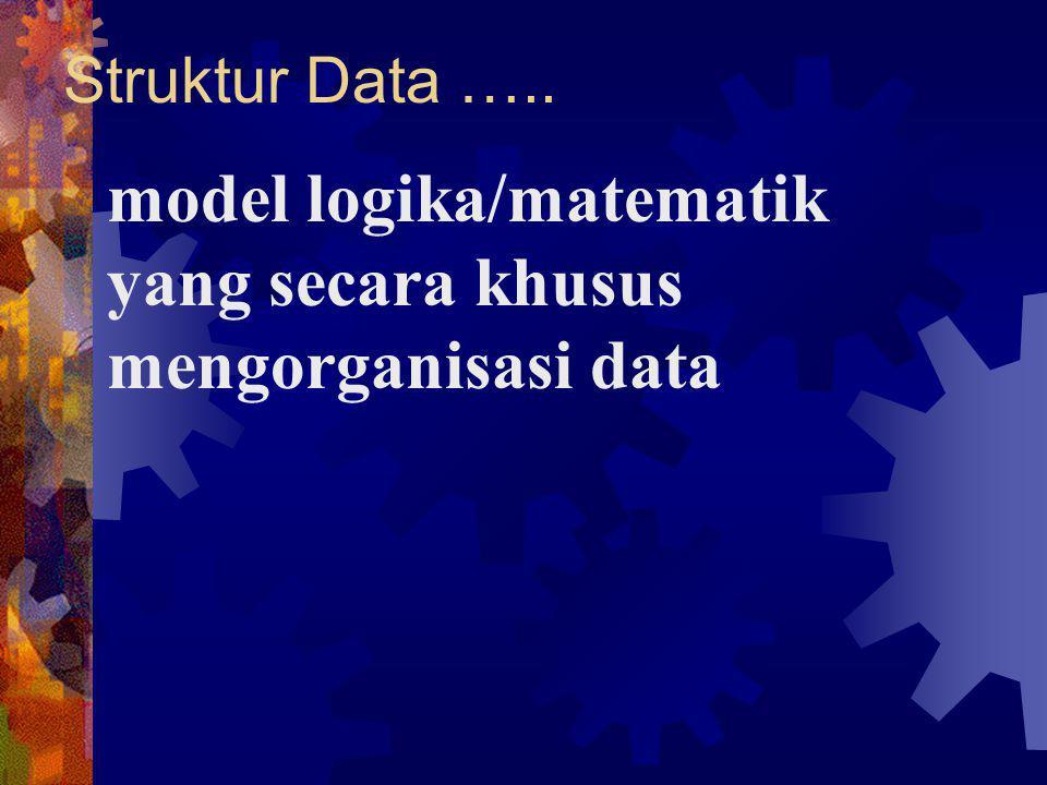 model logika/matematik yang secara khusus mengorganisasi data