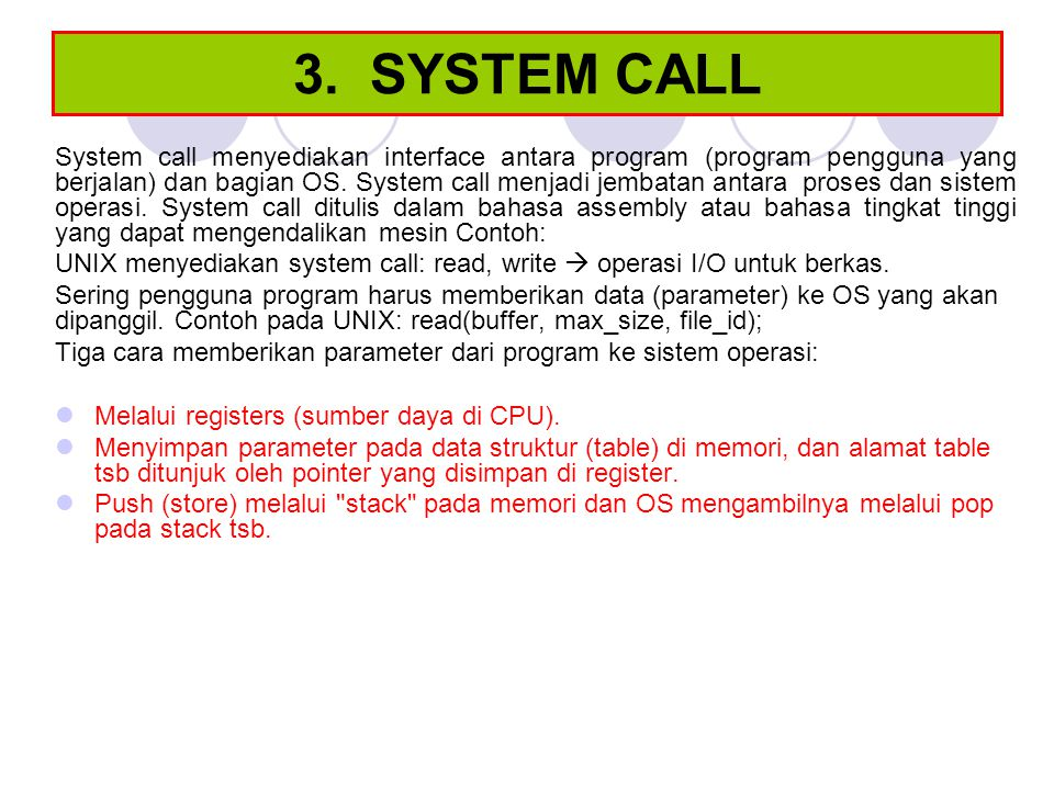 3. SYSTEM CALL