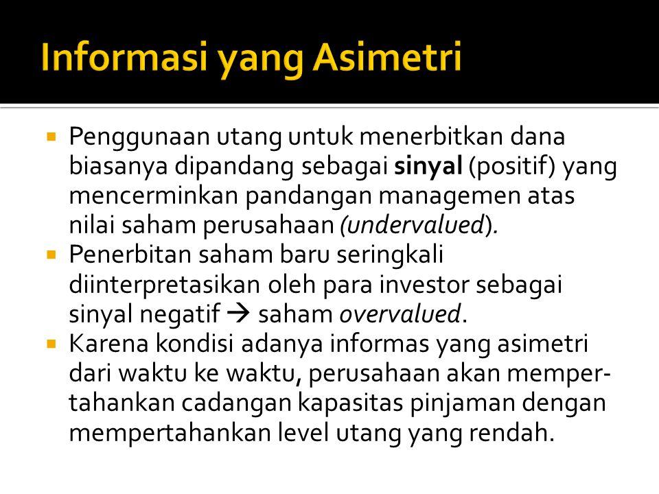 Informasi yang Asimetri