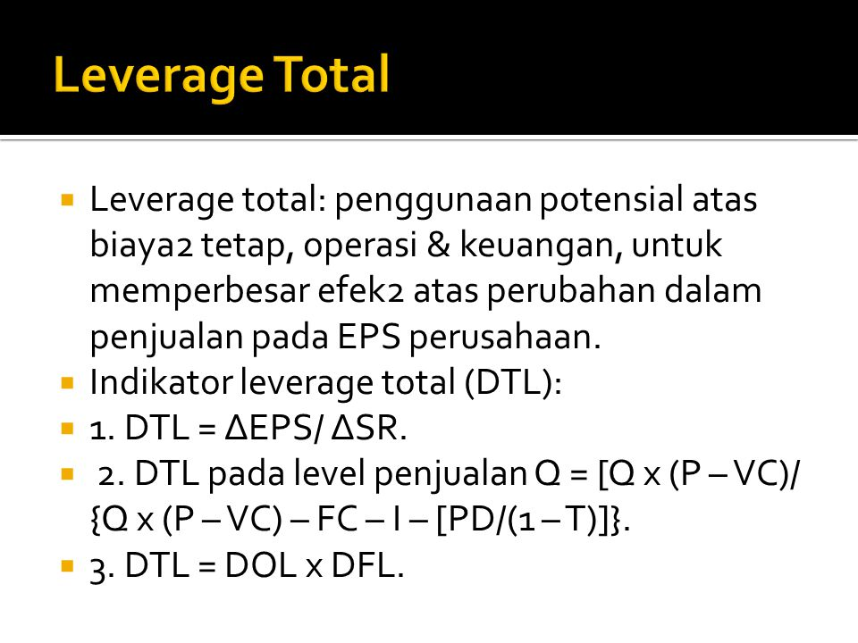 Leverage Total