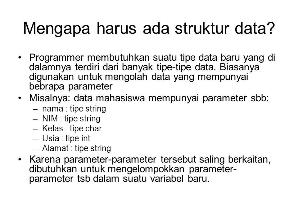 Mengapa harus ada struktur data