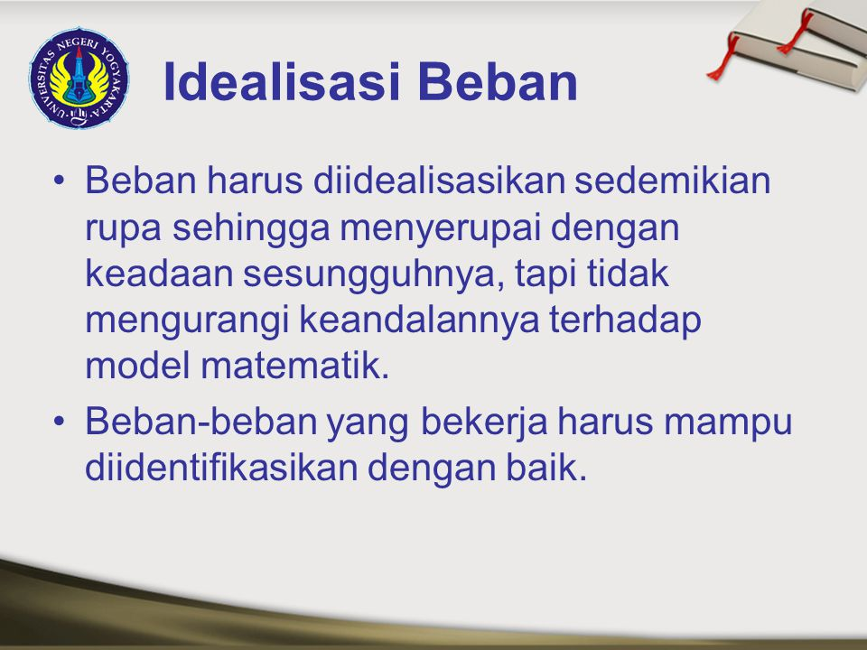 Idealisasi Beban