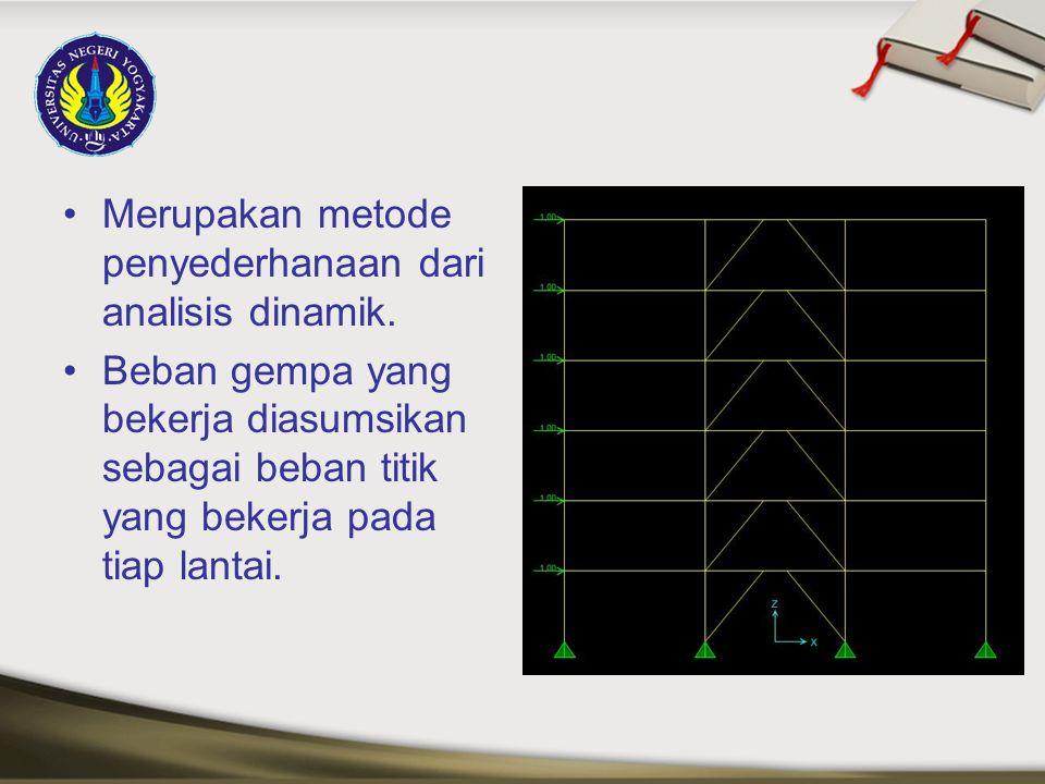 Merupakan metode penyederhanaan dari analisis dinamik.