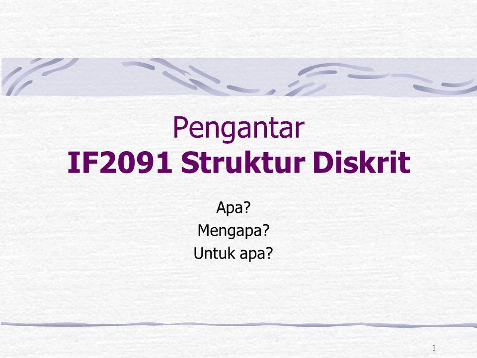 Pengantar IF2091 Struktur Diskrit