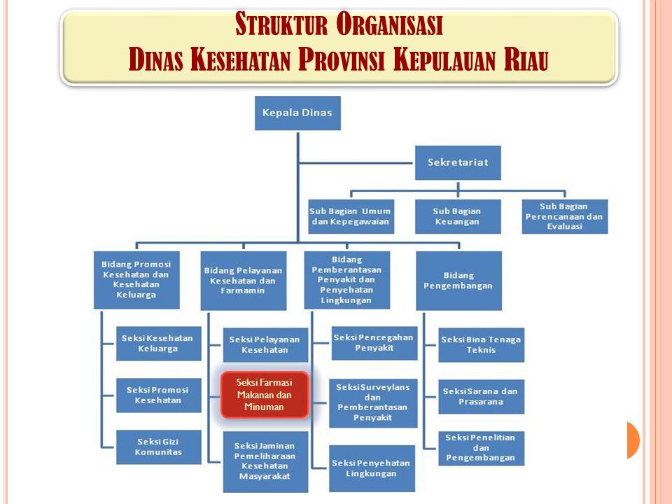 Struktur Organisasi Dinas Kesehatan Provinsi Kepulauan Riau