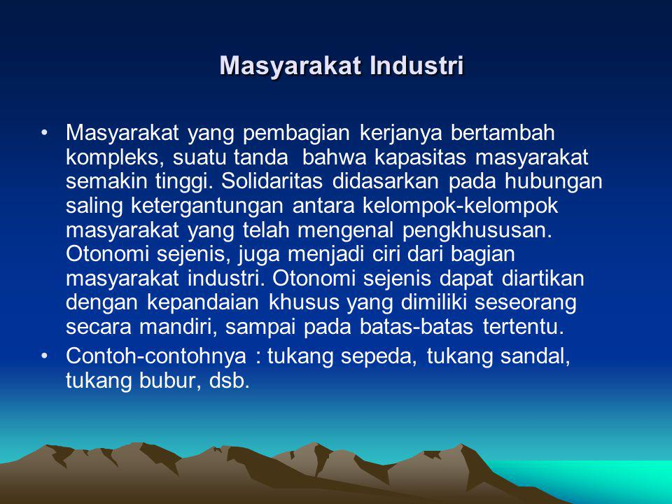 Masyarakat Industri