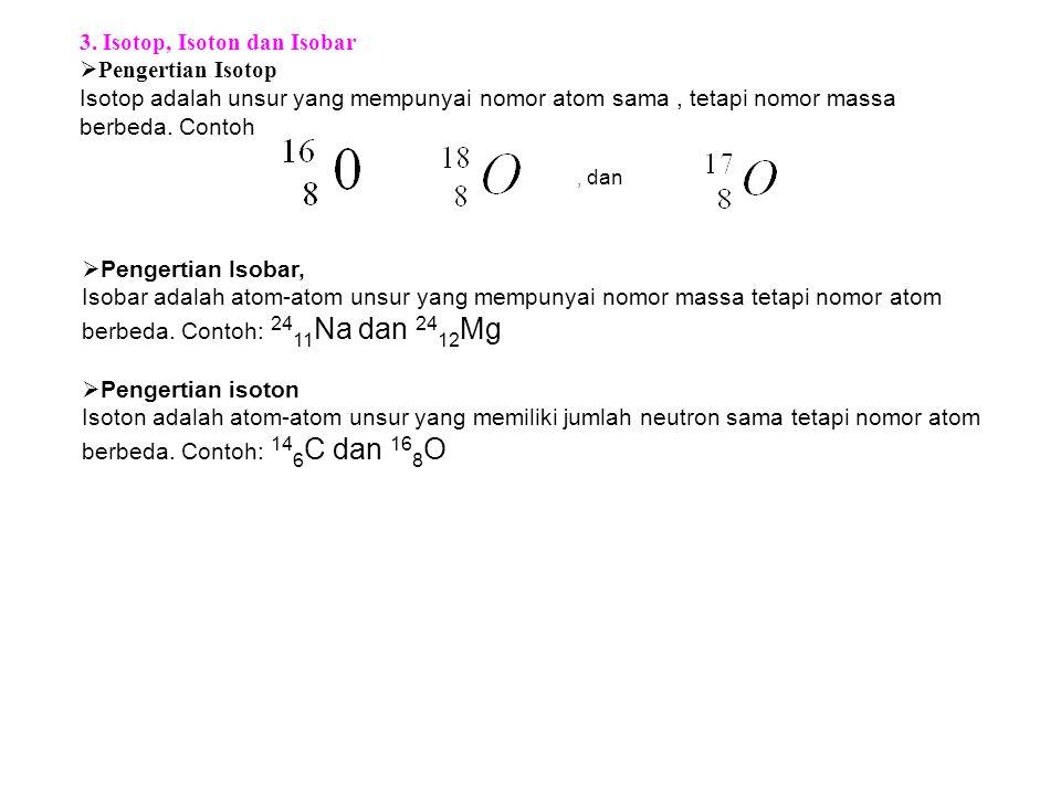 3. Isotop, Isoton dan Isobar Pengertian Isotop