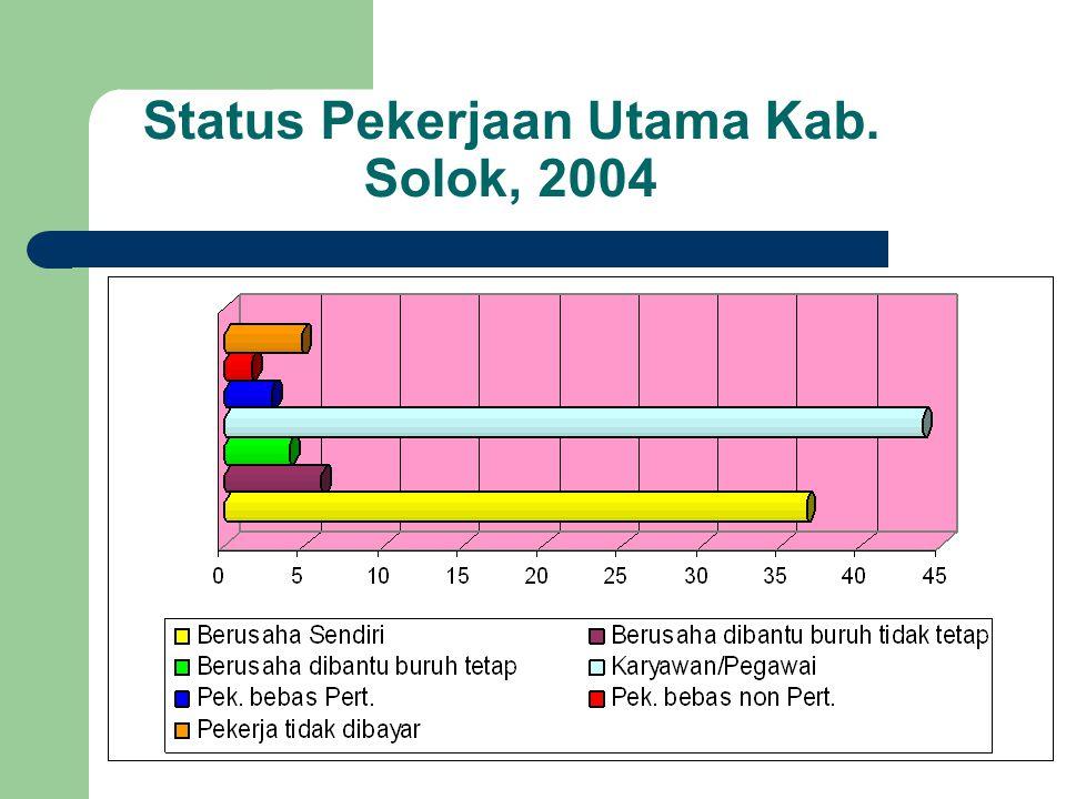 Status Pekerjaan Utama Kab. Solok, 2004