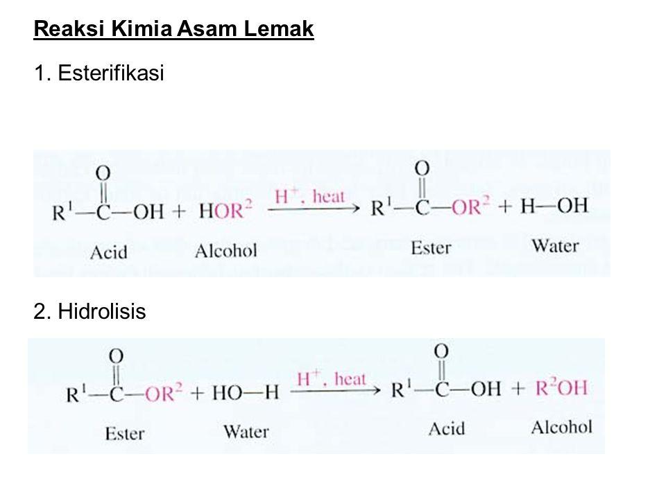 Reaksi Kimia Asam Lemak