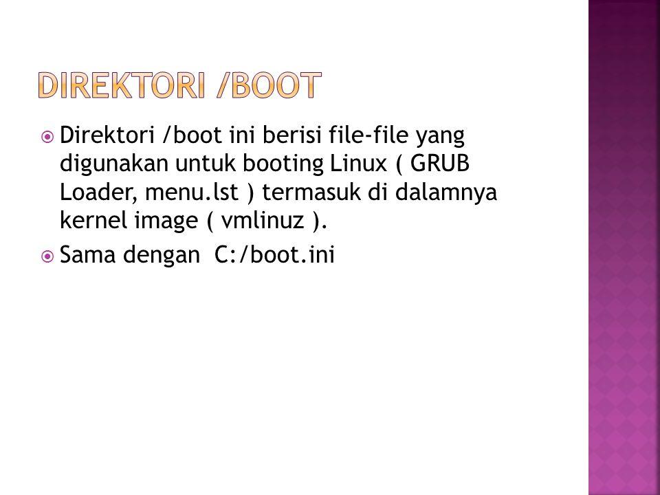 Direktori /boot