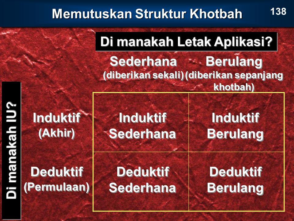 Memutuskan Struktur Khotbah