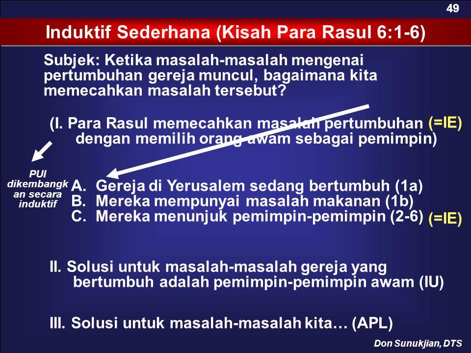 Induktif Sederhana (Kisah Para Rasul 6:1-6)
