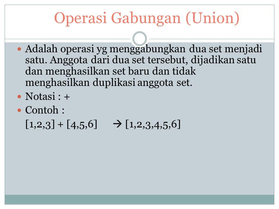 Operasi Gabungan (Union)