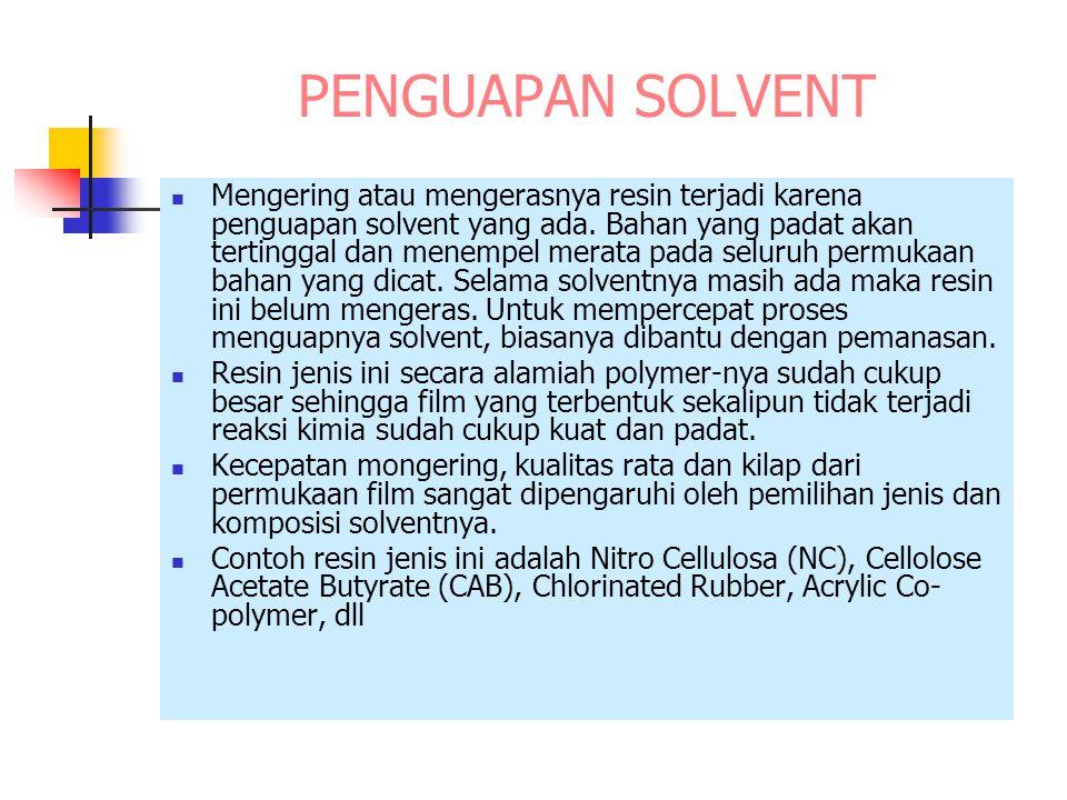 PENGUAPAN SOLVENT