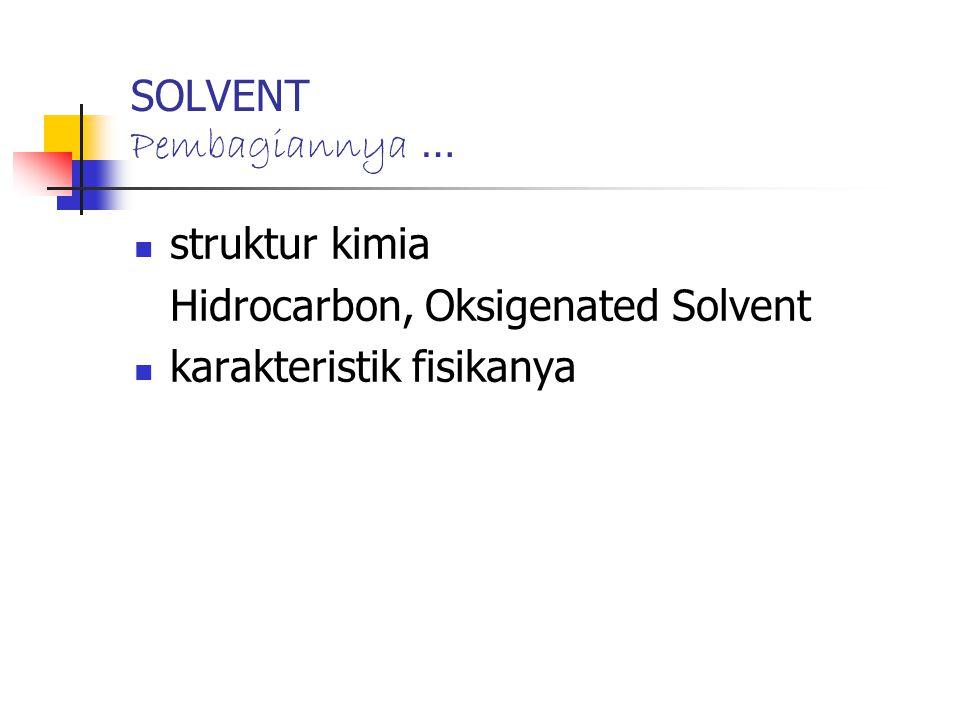 SOLVENT Pembagiannya …