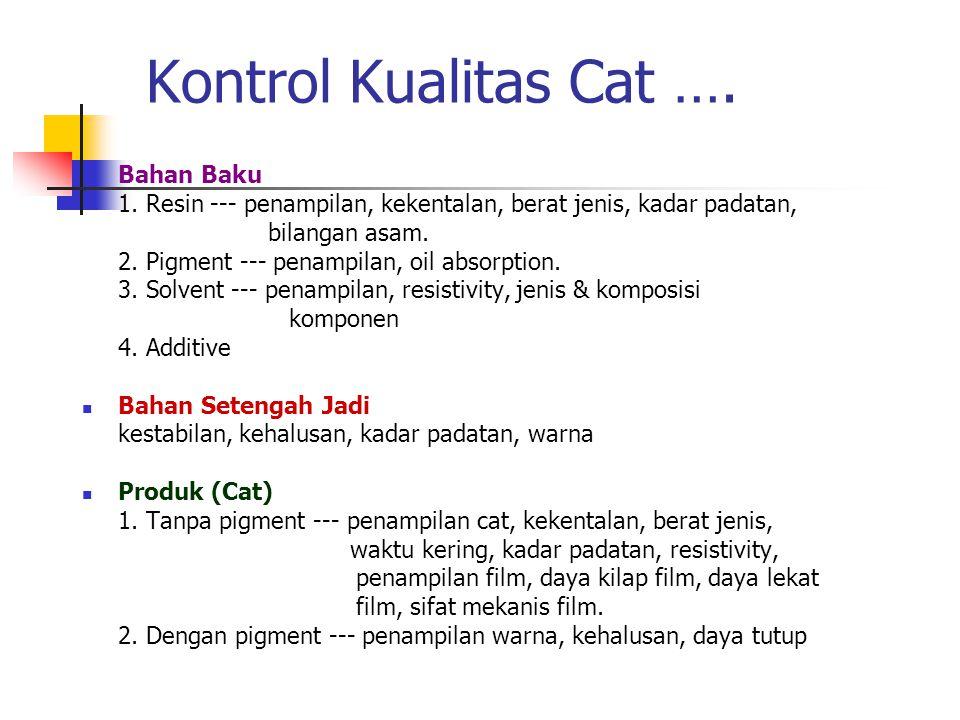 Kontrol Kualitas Cat …. Bahan Baku
