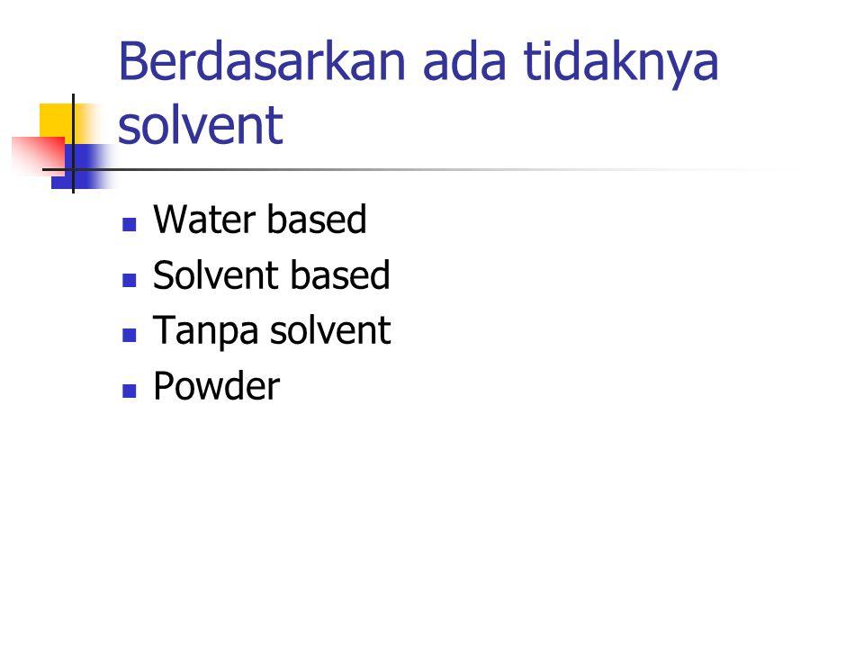 Berdasarkan ada tidaknya solvent