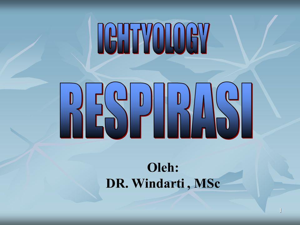 ICHTYOLOGY RESPIRASI Oleh: DR. Windarti , MSc