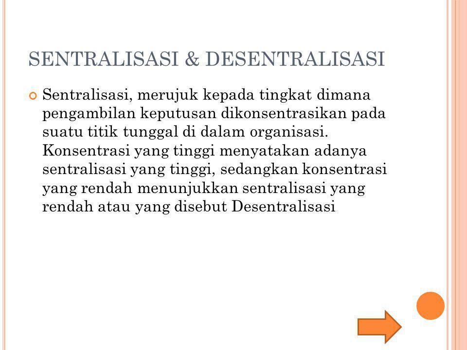 SENTRALISASI & DESENTRALISASI