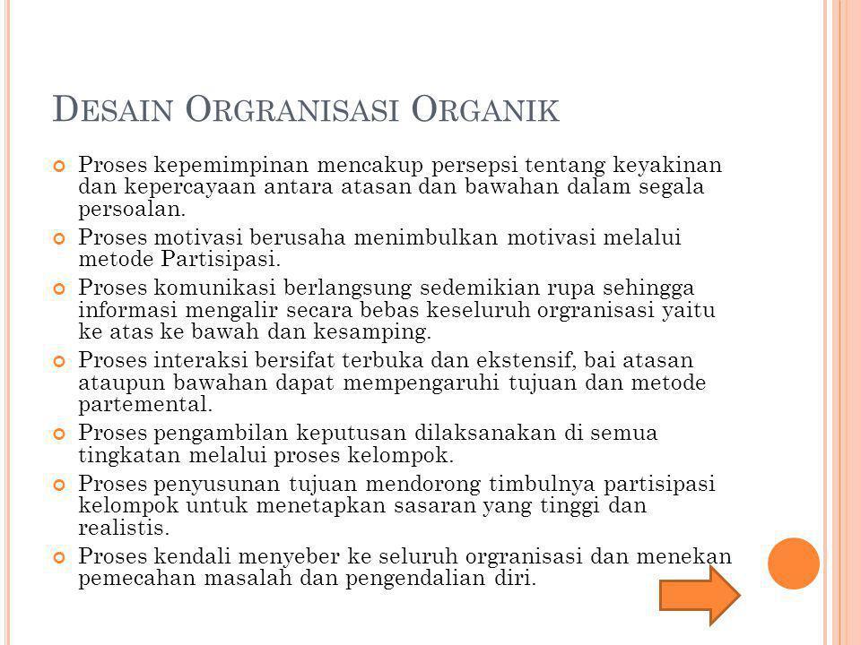 Desain Orgranisasi Organik