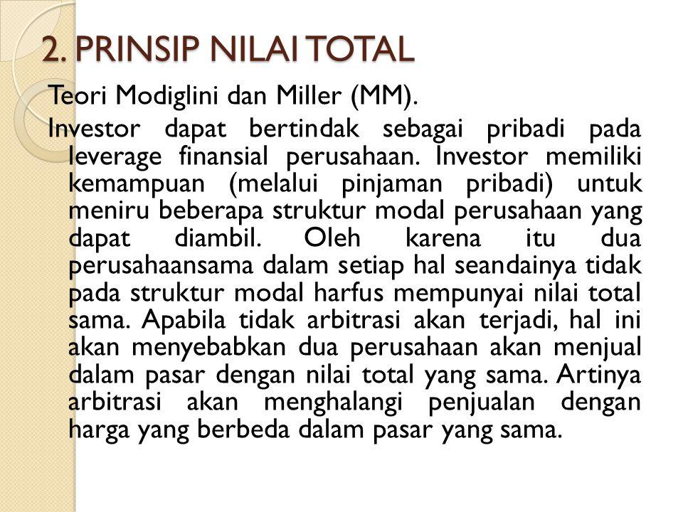 2. PRINSIP NILAI TOTAL