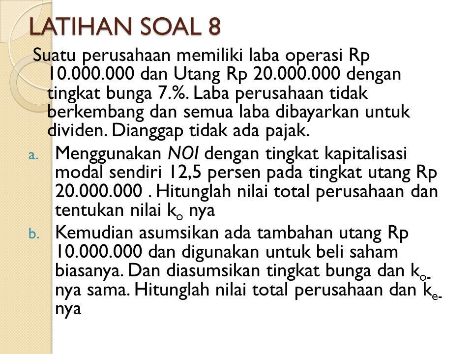 LATIHAN SOAL 8