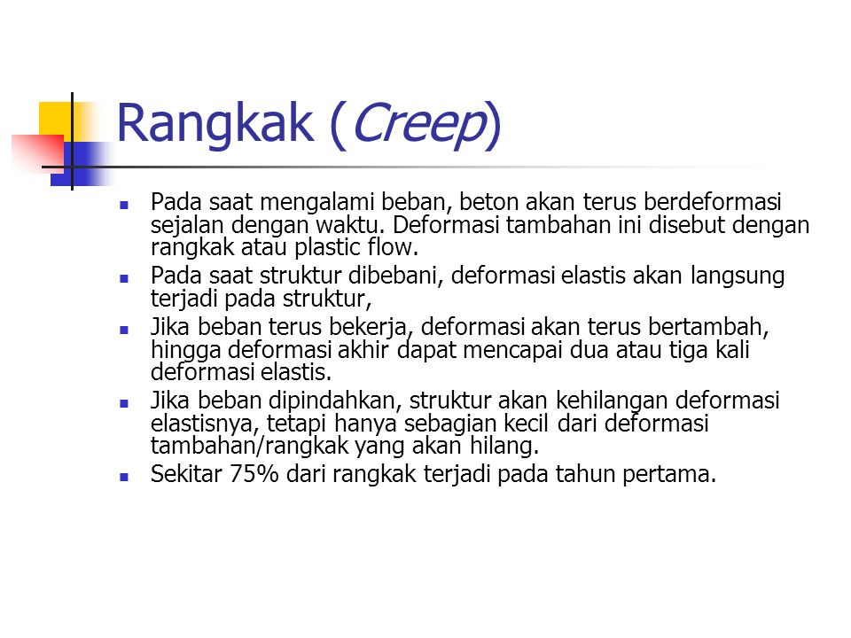 Rangkak (Creep)