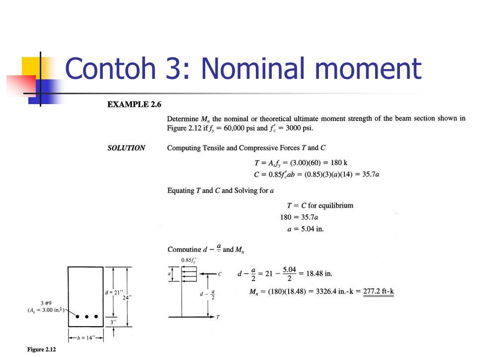Contoh 3: Nominal moment