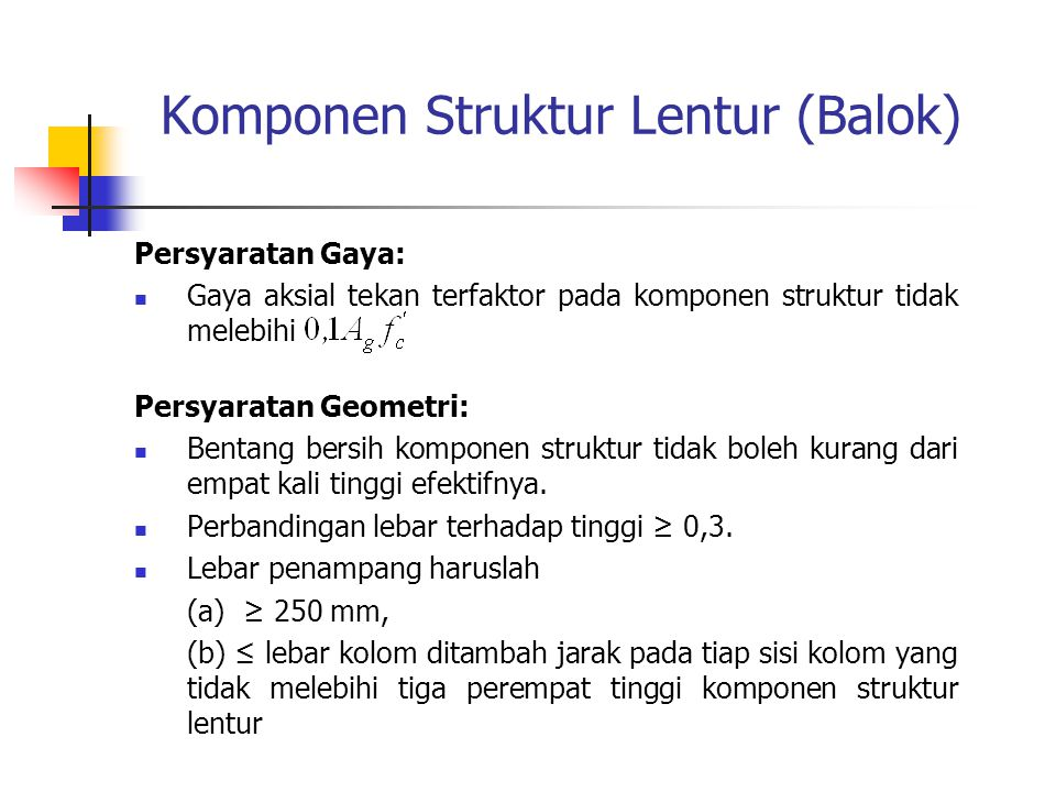 Komponen Struktur Lentur (Balok)