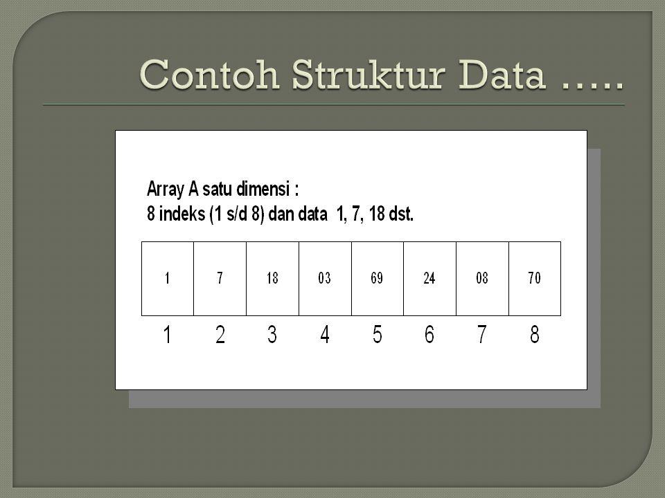 Contoh Struktur Data …..