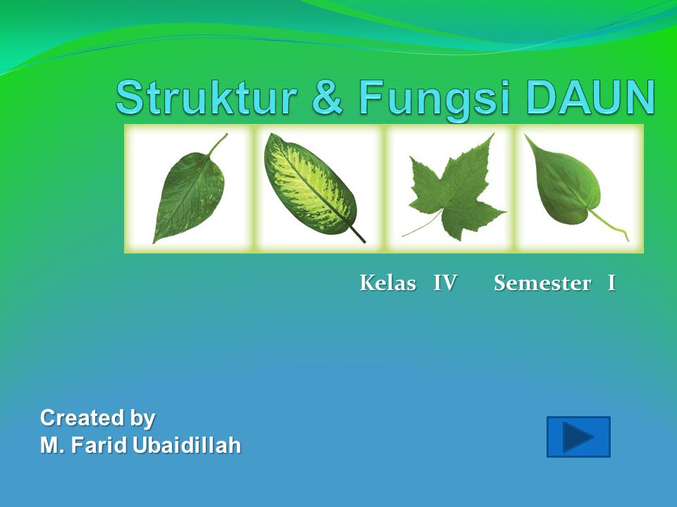 Kelas IV Semester I Created by M. Farid Ubaidillah