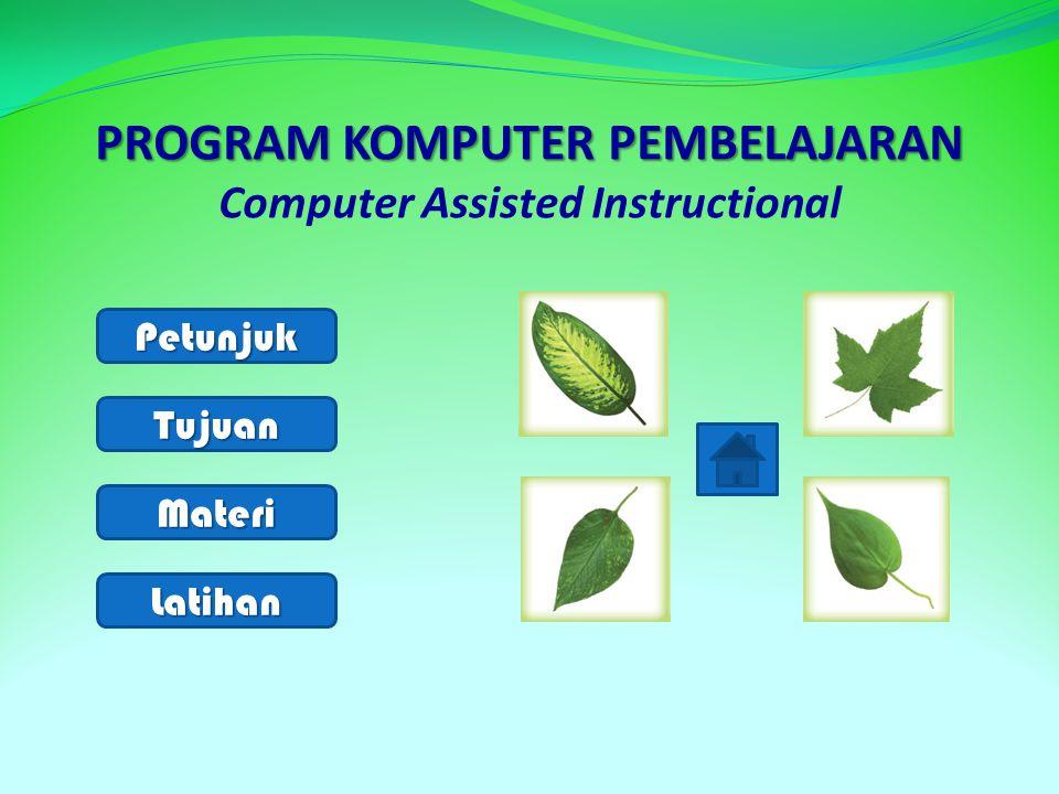 PROGRAM KOMPUTER PEMBELAJARAN Computer Assisted Instructional