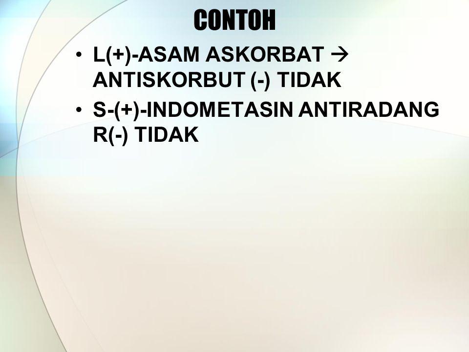 CONTOH L(+)-ASAM ASKORBAT  ANTISKORBUT (-) TIDAK
