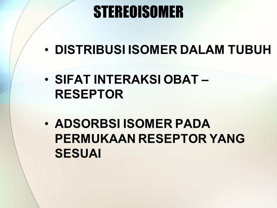 STEREOISOMER DISTRIBUSI ISOMER DALAM TUBUH