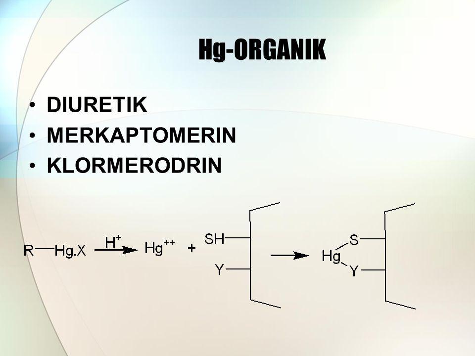 Hg-ORGANIK DIURETIK MERKAPTOMERIN KLORMERODRIN