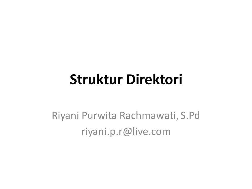 Riyani Purwita Rachmawati, S.Pd riyani.p.r@live.com